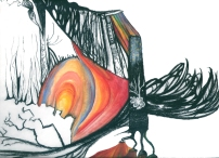 2006. Charcoal, watercolor, gouache